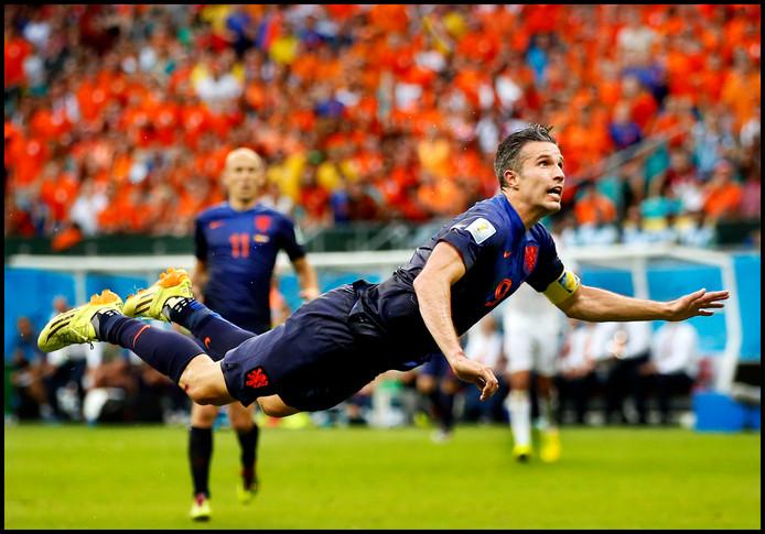 De prachtige treffer die Robin van Persie op het WK maakte in de wedstrijd tegen Spanje
