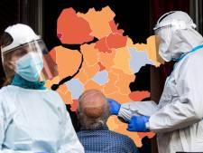 Kaart | Minder rode gemeenten in Oost-Nederland, Urk scoort weer het slechtst van Nederland