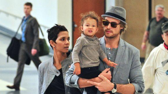 Halle Berry, haar dochter Nahla en haar ex Gabriel Aubry in 2009.