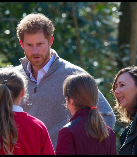 Prins Harry duikt bos in met scholieren