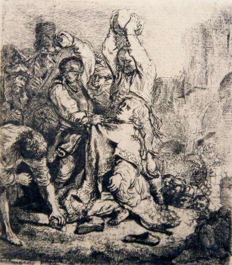 Ets van Rembrandt is pronkstuk van expositie 'Bijbel in Beeld' in Drukkerijmuseum Meppel