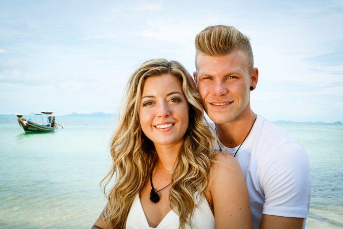 Heikki en Milou bij hun deelname aan 'Temptation Island'