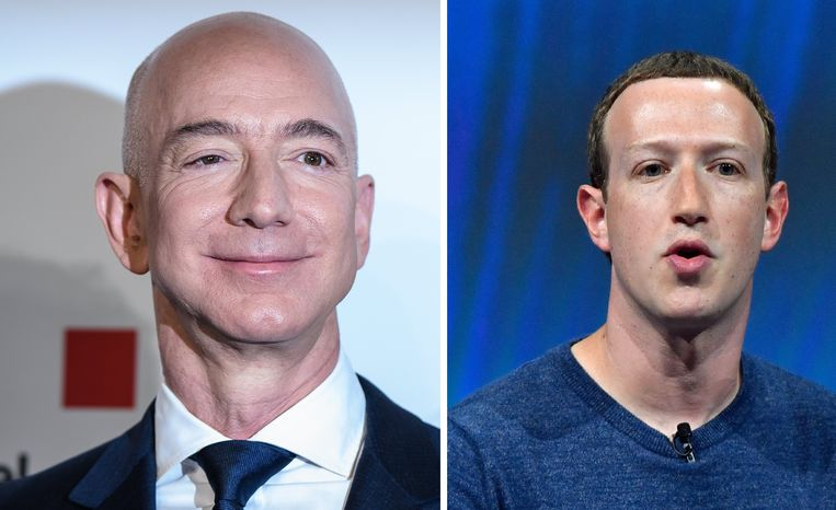 Jeff Bezos en Mark Zuckerberg