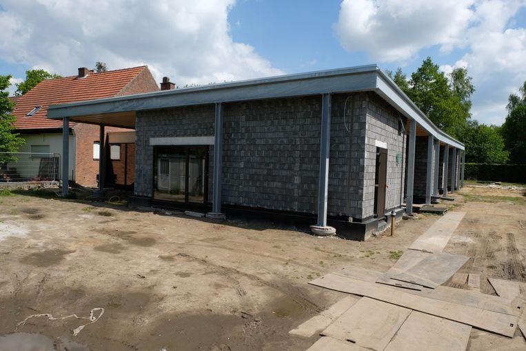 De nieuwbouw kwam op de plaats van de oude schuur.