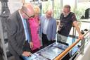 De expo is interactief, ook met multimediaschermen.