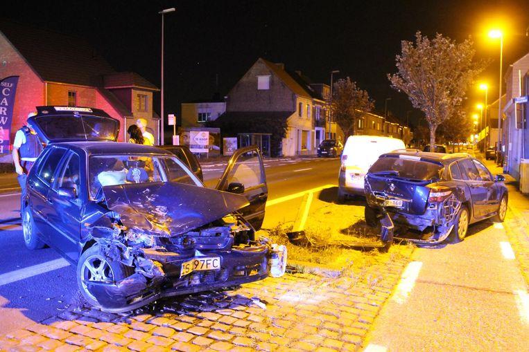 De schade aan de betrokken wagens was groot.