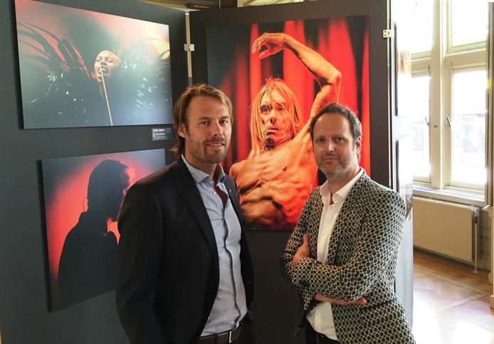 Ferdy Damman en Raymond van Olphen (Bullet-Ray) voor een paar werken een van beiden. Foto: Sander Lindenburg