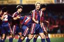 Ronald Koeman viert zijn goal tegen Real Madrid.