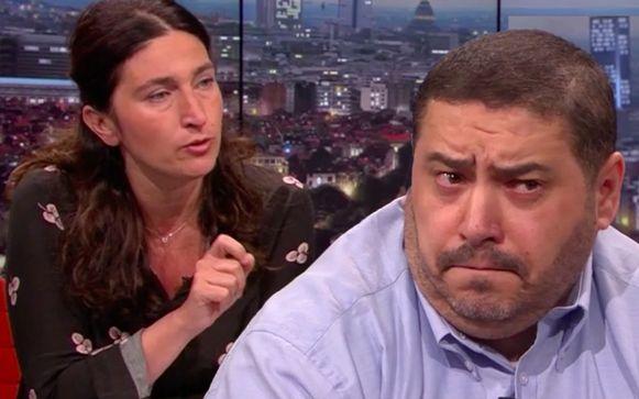 Redouane Ahrouch probeert uit te leggen waarom hij Zuhal Demir weigert aan te kijken, maar dat blijkt niet zo eenvoudig.