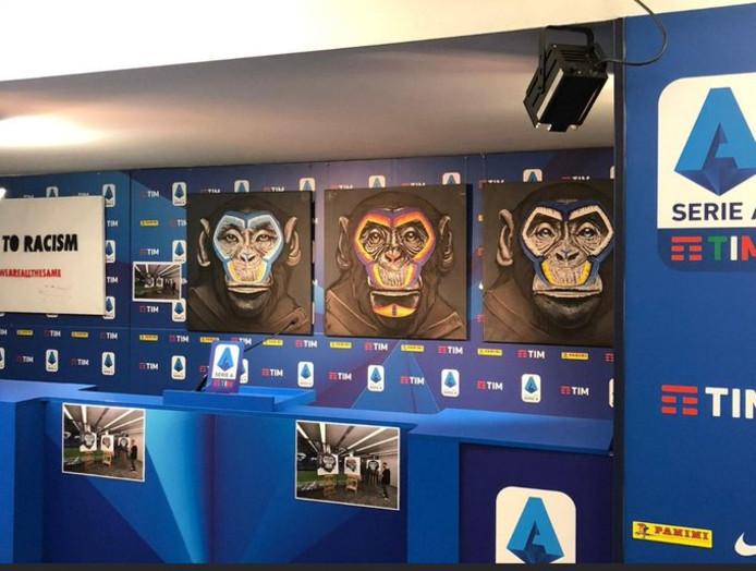 La Ligue italienne de football a annoncé lundi plusieurs mesures visant à lutter contre le racisme, mais le message a été brouillé par l'utilisation d'une peinture représentant trois singes, qui a suscité l'incompréhension de l'AS Rome ou de l'association anti-discriminations FARE.
