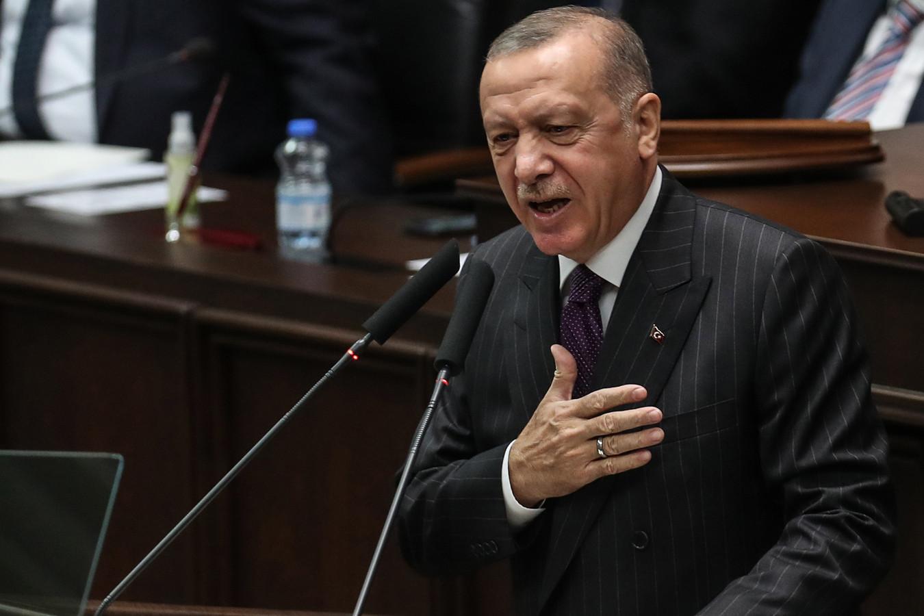 Le président Erdogan, plus tôt ce mois-ci, à Ankara
