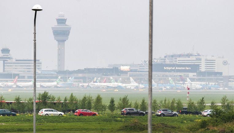 Luchthaven Schiphol nabij Amsterdam.