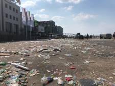 Waalkade ligt vol met afval van Vierdaagsefeesten