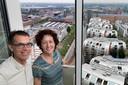 Arjen Jaarsma woont met zijn vrouw Petra op de hoogste in de Jheronimustoren.