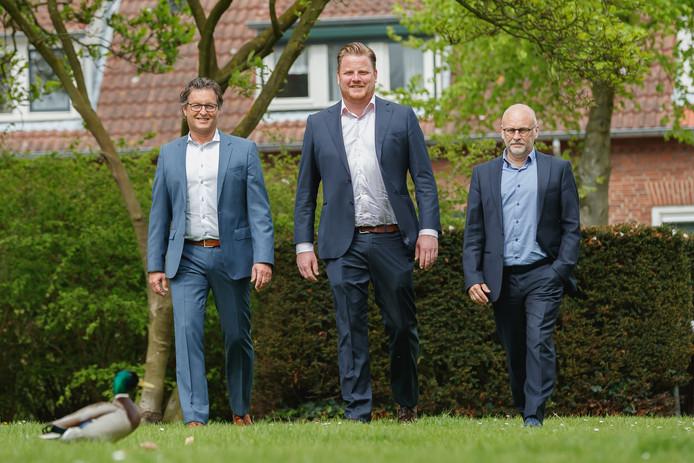 De drie wethouders van Halderberge vlnr. Hans Wierikx, Thomas Melisse en Jan Mollen.