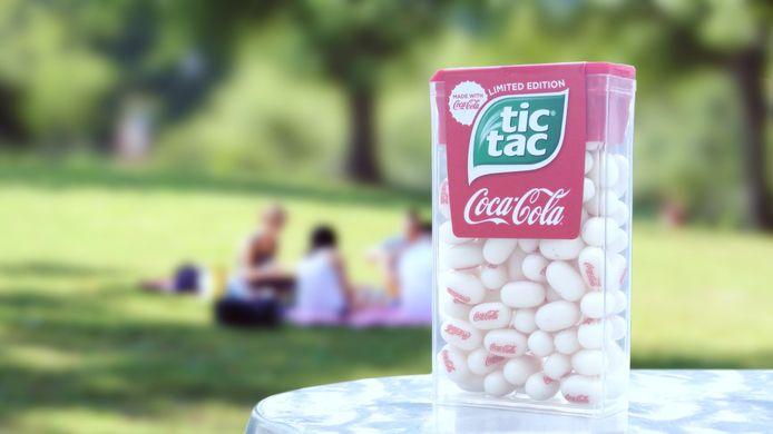 Coca-Cola en Tictac werkten samen met het maken van een snoepje.