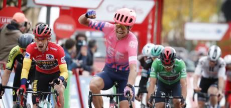 Cort Nielsen sprint naar zege in heuvelrit, Roglic verstevigt leiding