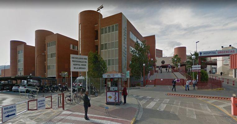 De elfjarige beviel in dit ziekenhuis nabij de stad Murcia.