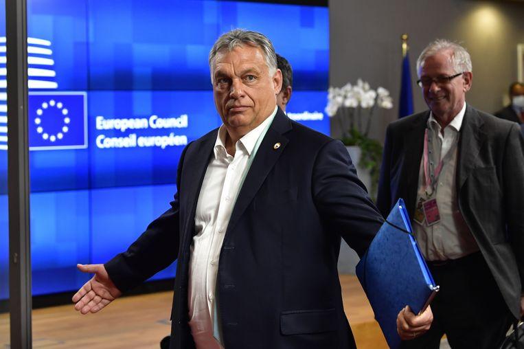 De Hongaarse premier Victor Orbán. Beeld EPA