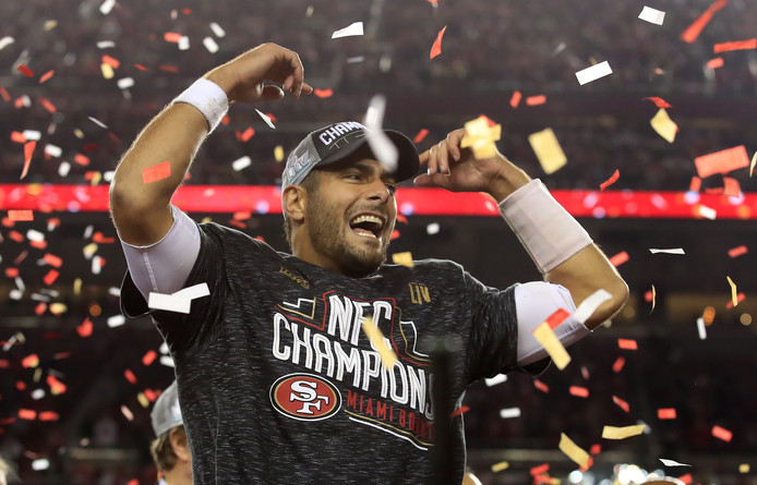San Francisco 49ers-quarterback Jimmy Garoppolo.