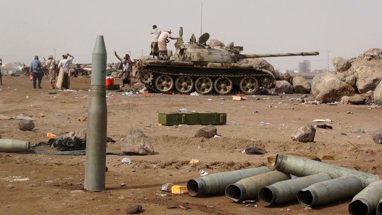Milities loyaal aan president Abdo Rabbo Mansour Hadi Beeld null