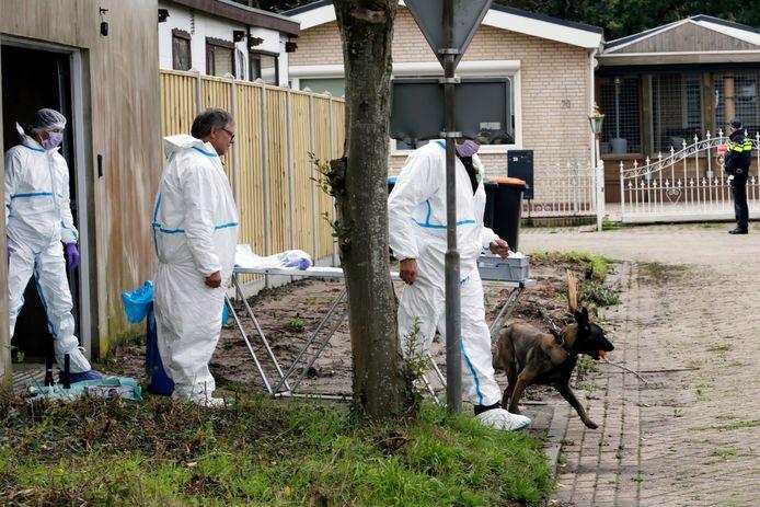 In een loods in Steenbergen zocht de politie begin oktober naar bloedsporen van Johan van der Heyden.