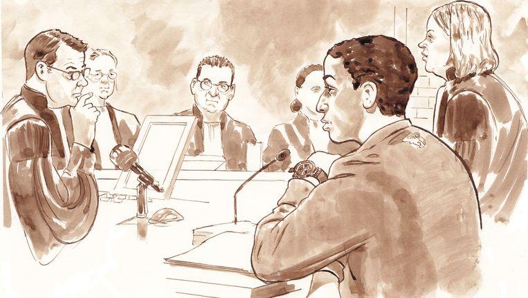 De volgens het OM uit Syrië teruggekeerde Mohamed A., in augustus voor de rechter. Hij wordt ervan verdacht een terroristische aanslag te willen plegen in Nederland. Onlangs hoorde hij vier jaar cel eisen. Beeld anp