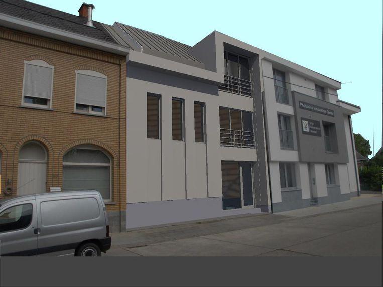Een beeld van hoe het gebouw er binnenkort zal uitzien.