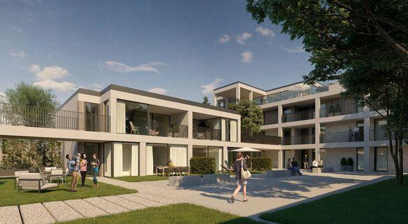 Bouwproject Gruunhof Hoeselt omvat 34 appartementen met zicht op de groene long Het Mottepark in Hoeselt- Centrum.