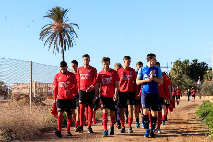 FC Twente op trainingskamp in San Pedro del Pinatar in Spanje.