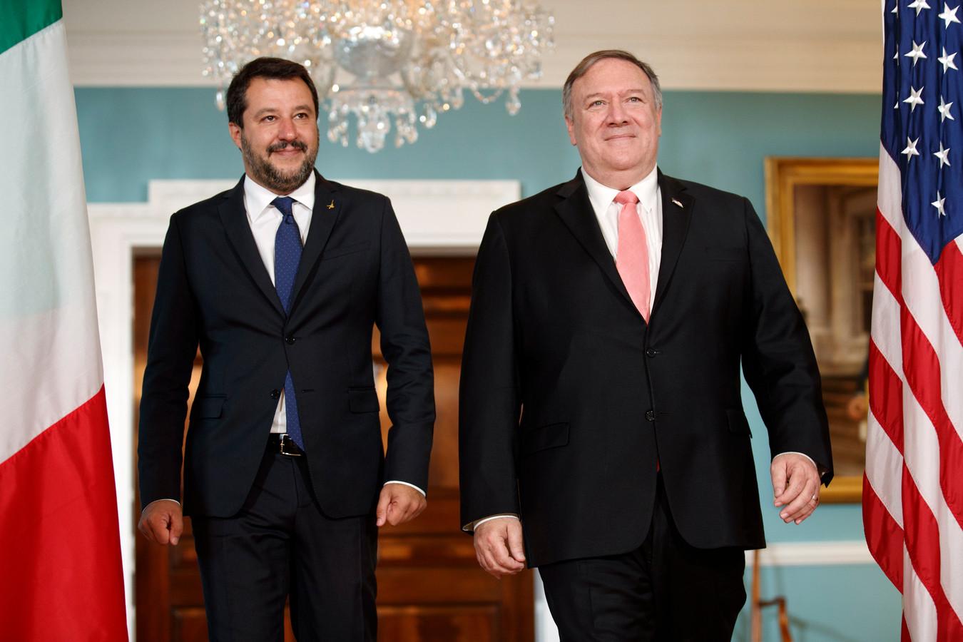 Matteo Salvini et Mike Pompeo