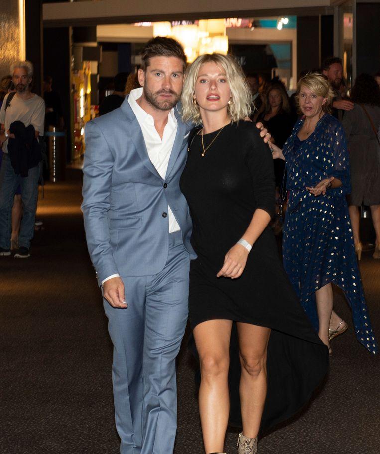 Kevin Janssens en zijn vriendin Ella-June Henrard.