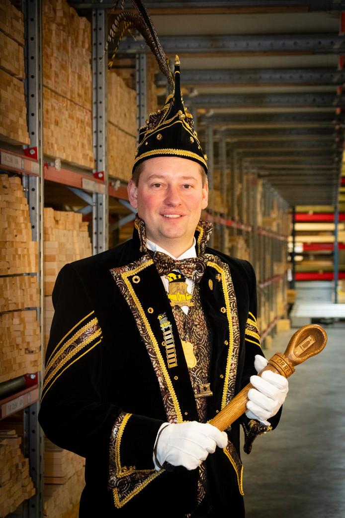 Stadsprins Tim van de Wal van Skôn Orre Gat.