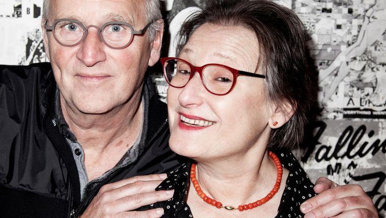 Herman Koch en Wanda Reisel kennen elkaar van het Spinoza Lyceum Beeld Linda Stulic