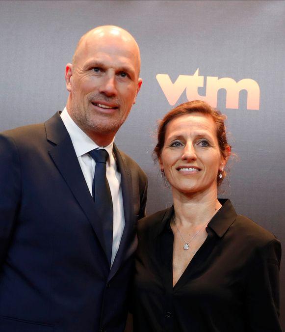 Philippe Clement met vriendin Isabelle Bauwmans.