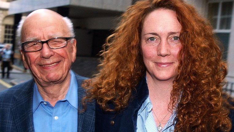 Rebekah Brooks en Rupert Murdoch. Beeld afp