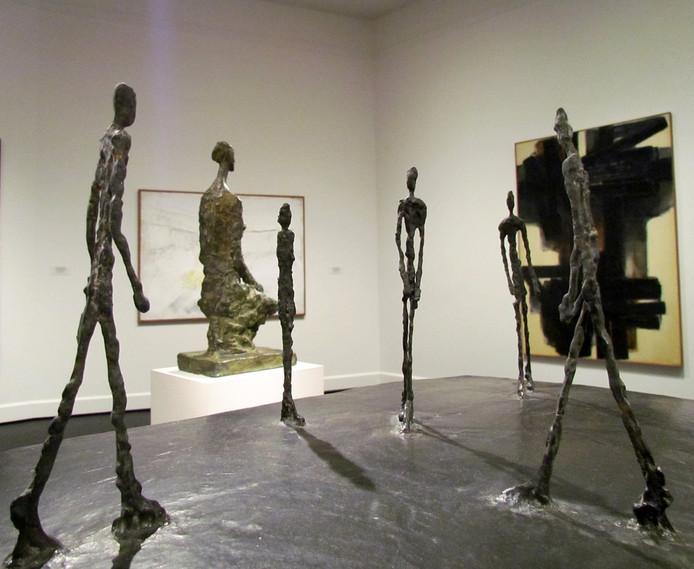 Beelden van Giacometti.