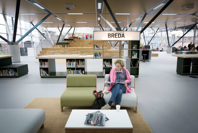 De bibliotheek in Breda is weer geopend na een grote verbouwing. De Breda Hoek. Foto: Pix4Profs/Joyce van Belkom