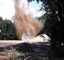De explosieven worden later tot ontploffing gebracht.