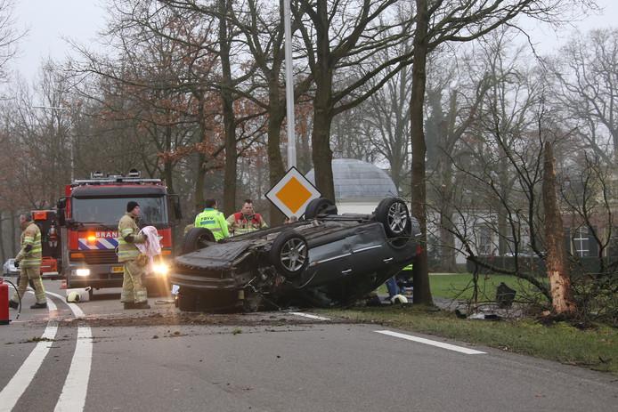 Drie gewonden bij ongeval op de Rijksstraatweg Breukelen Maarssen