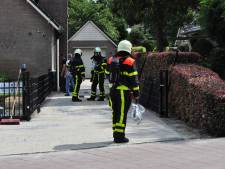 Gaslek bij woning Waalwijk, gebied rond woning afgesloten
