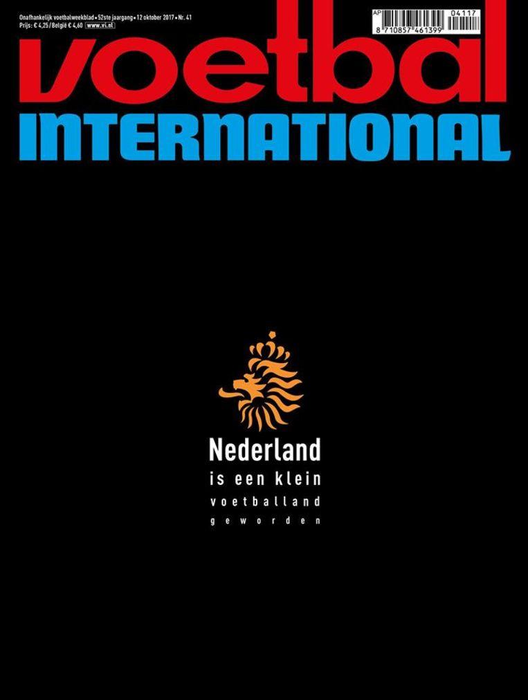 De cover van Voetbal International, oktober 2017. Beeld