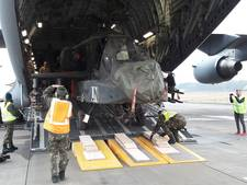 Laatste twee Apaches uit Mali uitgeladen op Vliegbasis Gilze-Rijen (video)