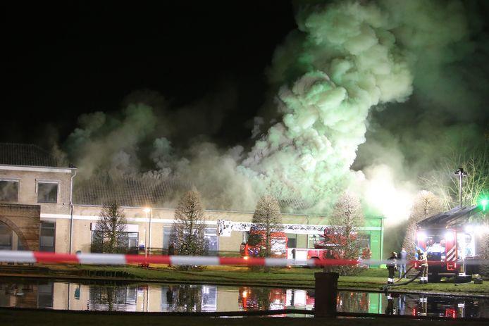 Grote brand bij La Salle in Boxtel.