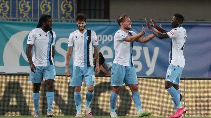 Hattrick Immobile helpt Lazio voorbij Verona, assist voor Jordan Lukaku