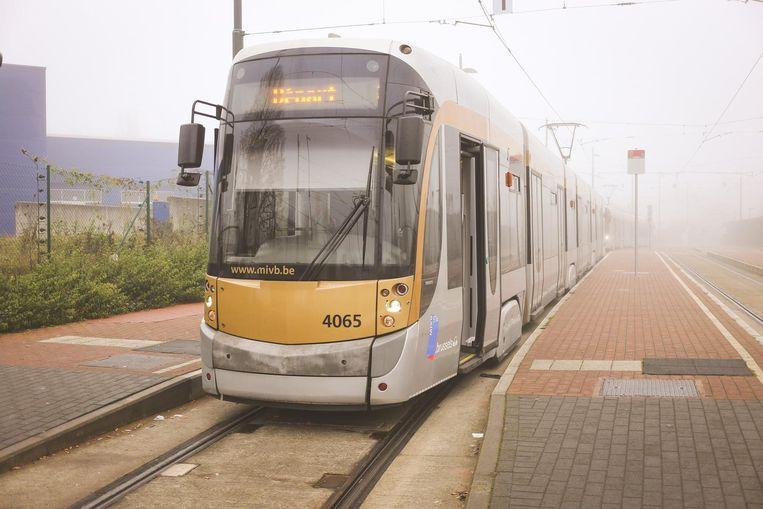 MIVB werkt aan de tramsporen.