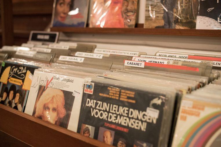 In Concerto beslaan de bakken met vinyl alweer bijna de helft van het vloeroppervlak. Beeld Rowin Ubink.