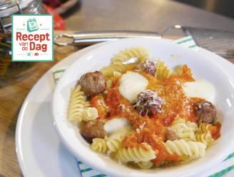 Recept van de dag: Pasta surprise (pasta met gehaktballetjes en mozzarella)