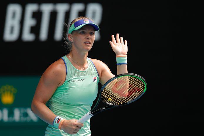 Kiki Bertens op de Australian Open vorig jaar.