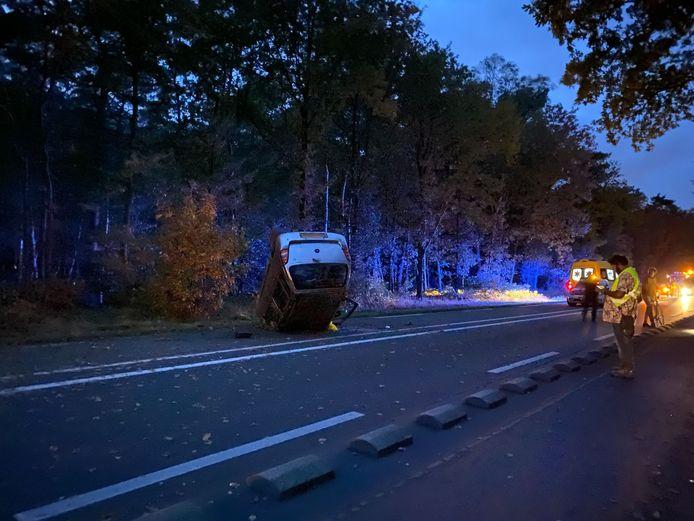 Het ongeval gebeurde op de Leuvenumseweg in Harderwijk, ter hoogte van dierenasiel De Ark.